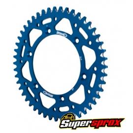 Corona Aluminio Supersprox Yamaha Azul
