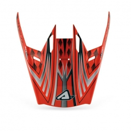 Visera Casco Motocross Acerbis Red Snake