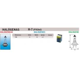 Lampara Faro Amolux 12V (H7)