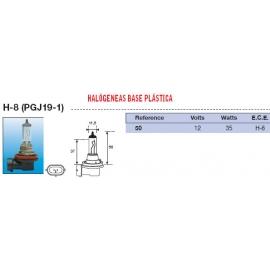 Lampara Faro Amolux 12V (H8)