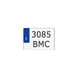 Placa Matricula Metalica Moto Europea 220x160