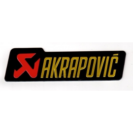 Adhesivo Akrapovic aluminio 140x40mm